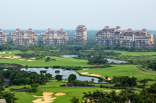 Mission Hills Resort Haikou for world-class golfing, hot springs, and spa treatments