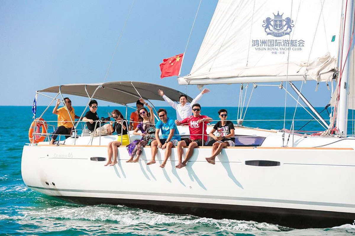 Visun Beneteau Oceanis Sail Boat Package Sanya 46 feet for 12 people at Sanya Hainan Island