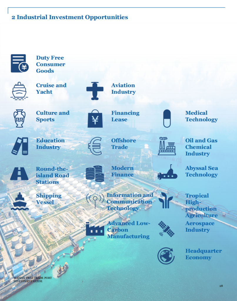 The 2020 Hainan Free Trade Port Investment Guide officially released